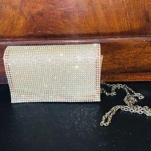 Vintage Rhinestone Encrusted Clutch w/chain strap